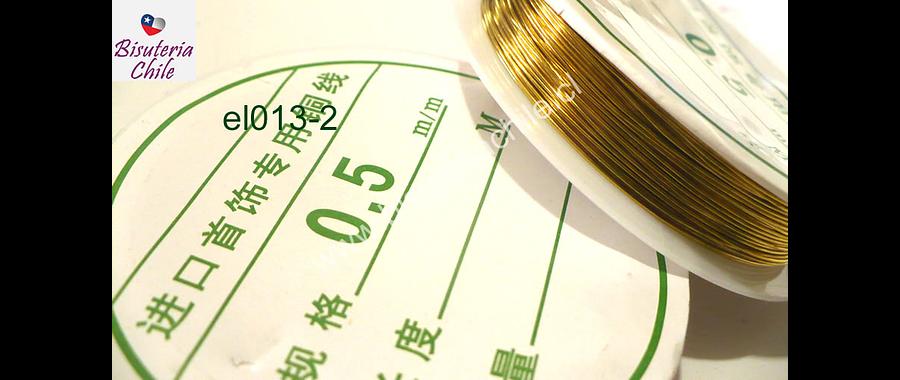 alambre de cobre color dorado 0,5 rollo de 12 metros