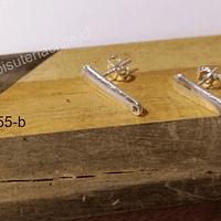 Base de aro baño de plata, 20 x 5 mm, por par
