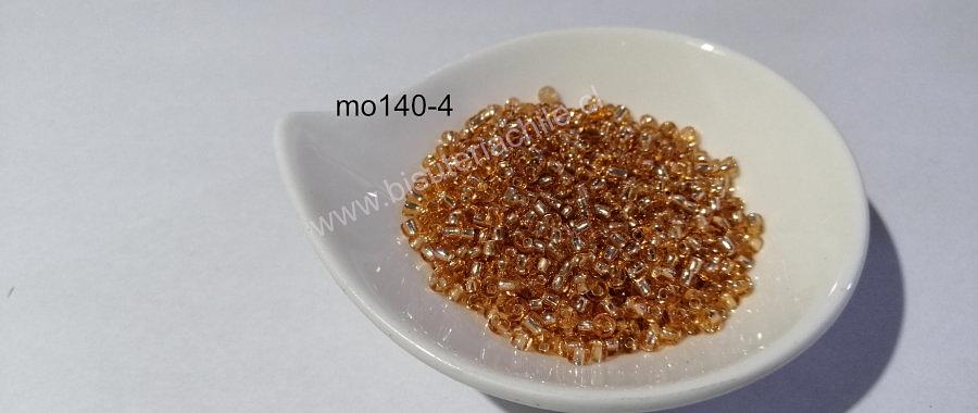 mostacilla café cristal de 8/0 (3 mm), set de 50 grs