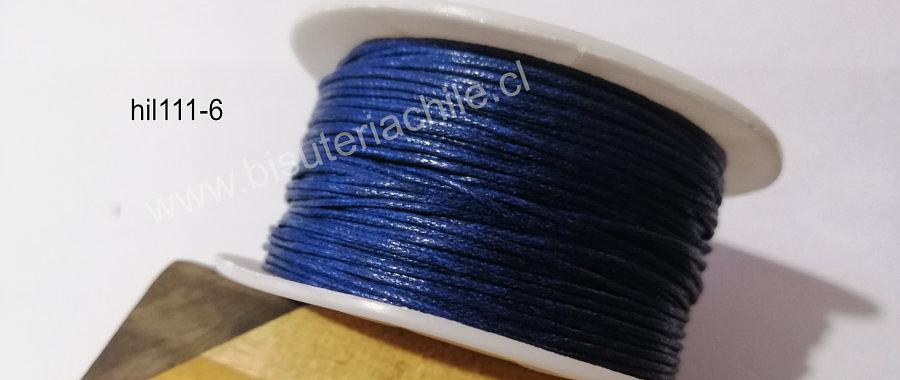 Hilos, Hilo de algodón azul, 1 mm, carrete de 40 yardas