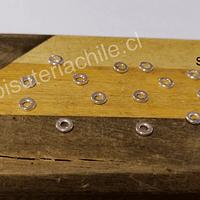 Separador baño de plata, 4 mm, agujero de 2 mm, set de 1 grs. (15 unidades aprox)