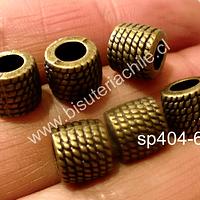 Separador envejecido 8 x 8 mm y agujero de 4,5 mm, set de 4 unidades
