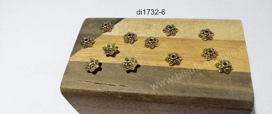 Casquete dorado, 9 x 3 mm, set de 12 unidades