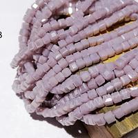 Cristal cuadrado de 4 mm, lila pálido tornasol, tira de 99 cristales