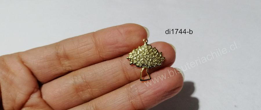 Dije baño de oro, en forma de árbol, 22 x 20 mm, por unidad