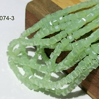 Cristal cuadrado de 4 mm, verde claro tornasol, tira de 99 cristales aprox.