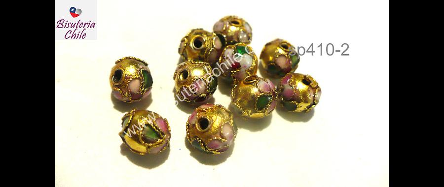 Perla española 8 mm en tonos dorados, set de 6 unidades