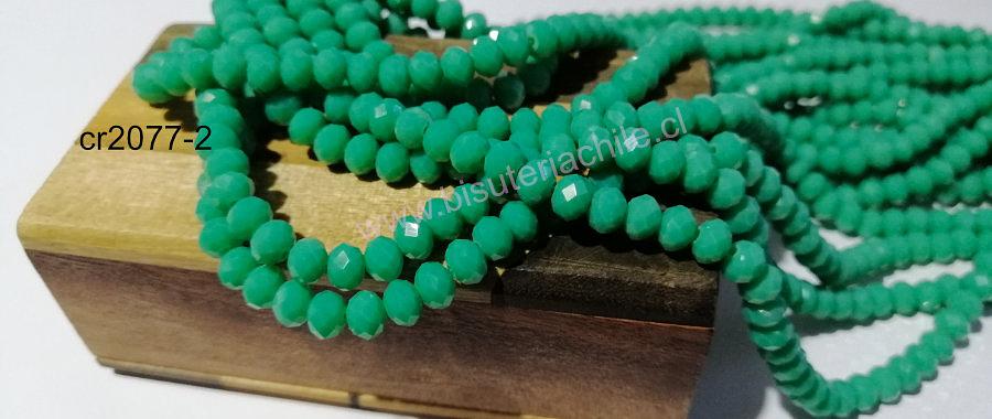 Cristal facetado de 6 mm, color jade, tira de 95 cristales aprox.