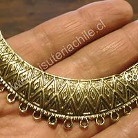 Base de collar dorado, 85 mm de ancho y 20 mm de grosor, por unidad