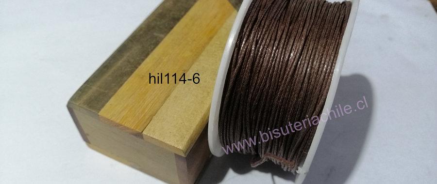 Hilos, Hilo de algodón café 1 mm, carrete de 40 yardas