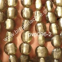 Vidrio Hindu gris, de 15 mm de diámetro, tira de 20 cuentas