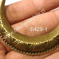Base de collar envejecido, 61 mm de ancho, 15 mm de 44 de alto y 15 mm de grosor, por unidad