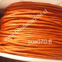Hilo de algodón naranjo, 1 mm, carrete de 70 mts