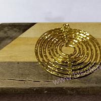 Colgante dorado, 40 mm, de diámetro, por unidad