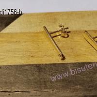 Base de aro baño de oro, 20 x 5 mm, por par