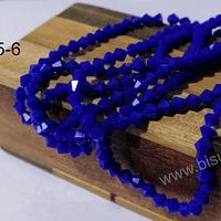 Cristal tupi 4 mm en color azul , tira de 110 cristales aprox.