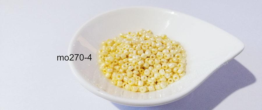 mostacilla crema nacarado de 8/0 (3 mm), set de 50 grs
