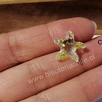 Cristal austriaco en forma de estrella de mar tornasol, 17 x 15 mm, por unidad