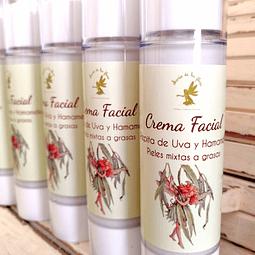 Crema fluída de uva y hamamelis