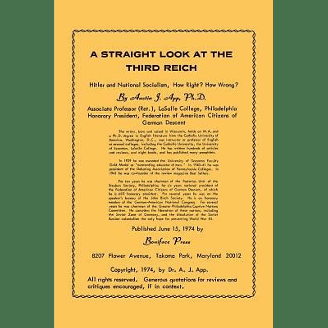 Austin J. App-A Straight Look at the Third Reich (BOOK)