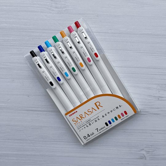 Set 7 Colores Zebra Sarasa R