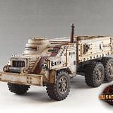 Military truck 6 wheeled