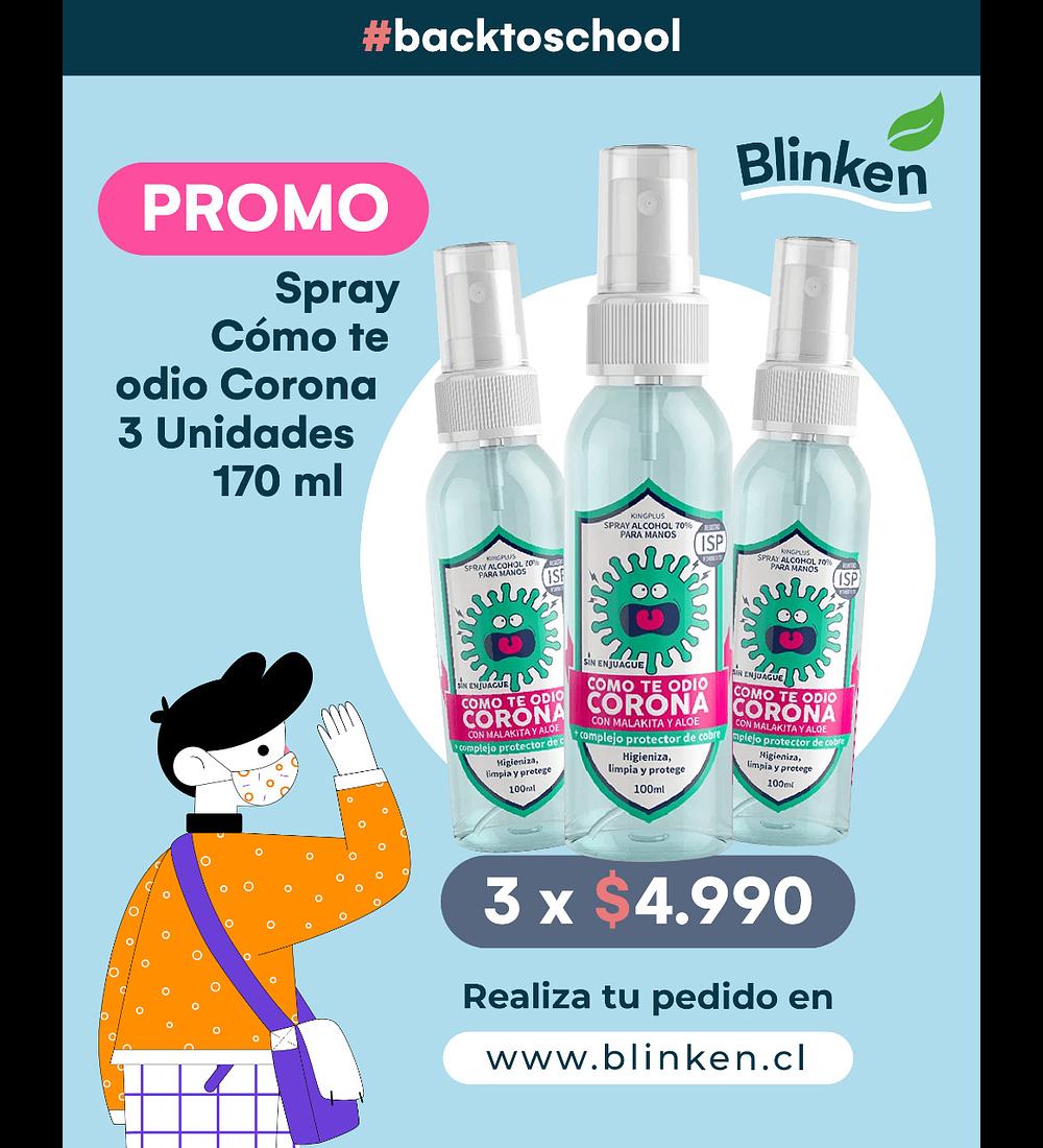 Promo Spray Como Te Odio Corona
