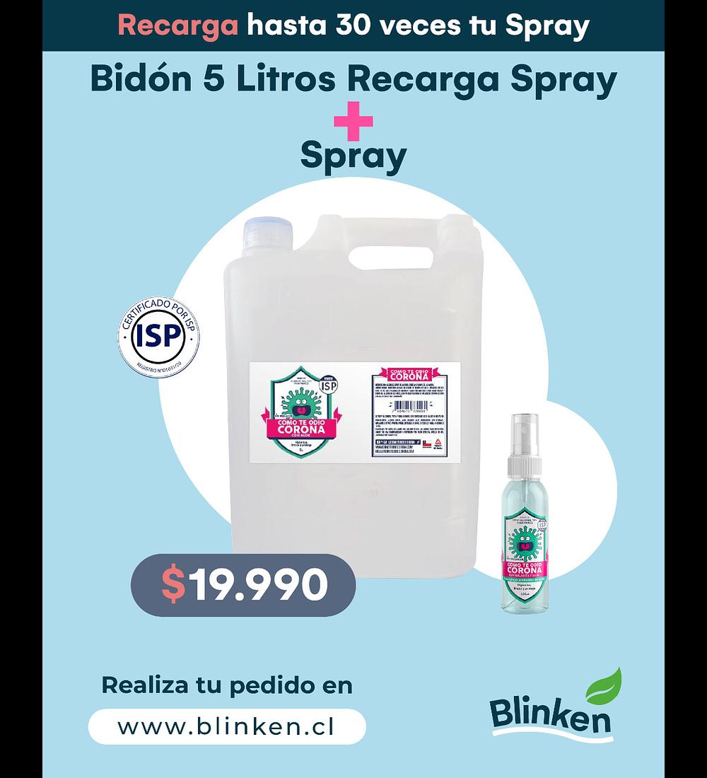 Bidón 5 Litros Recarga Spray + Spray