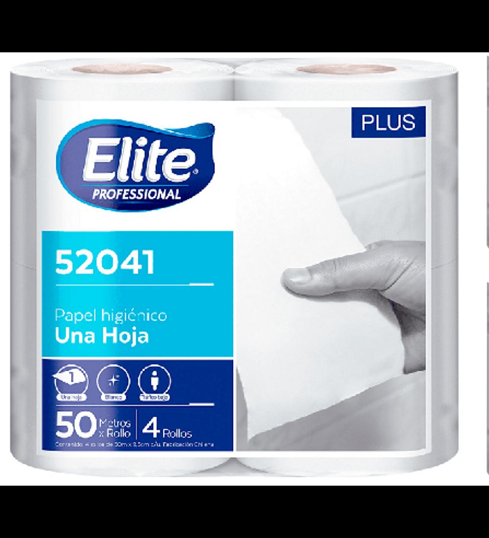 Papel higiénico elite hoja simple 24 rollos 50m