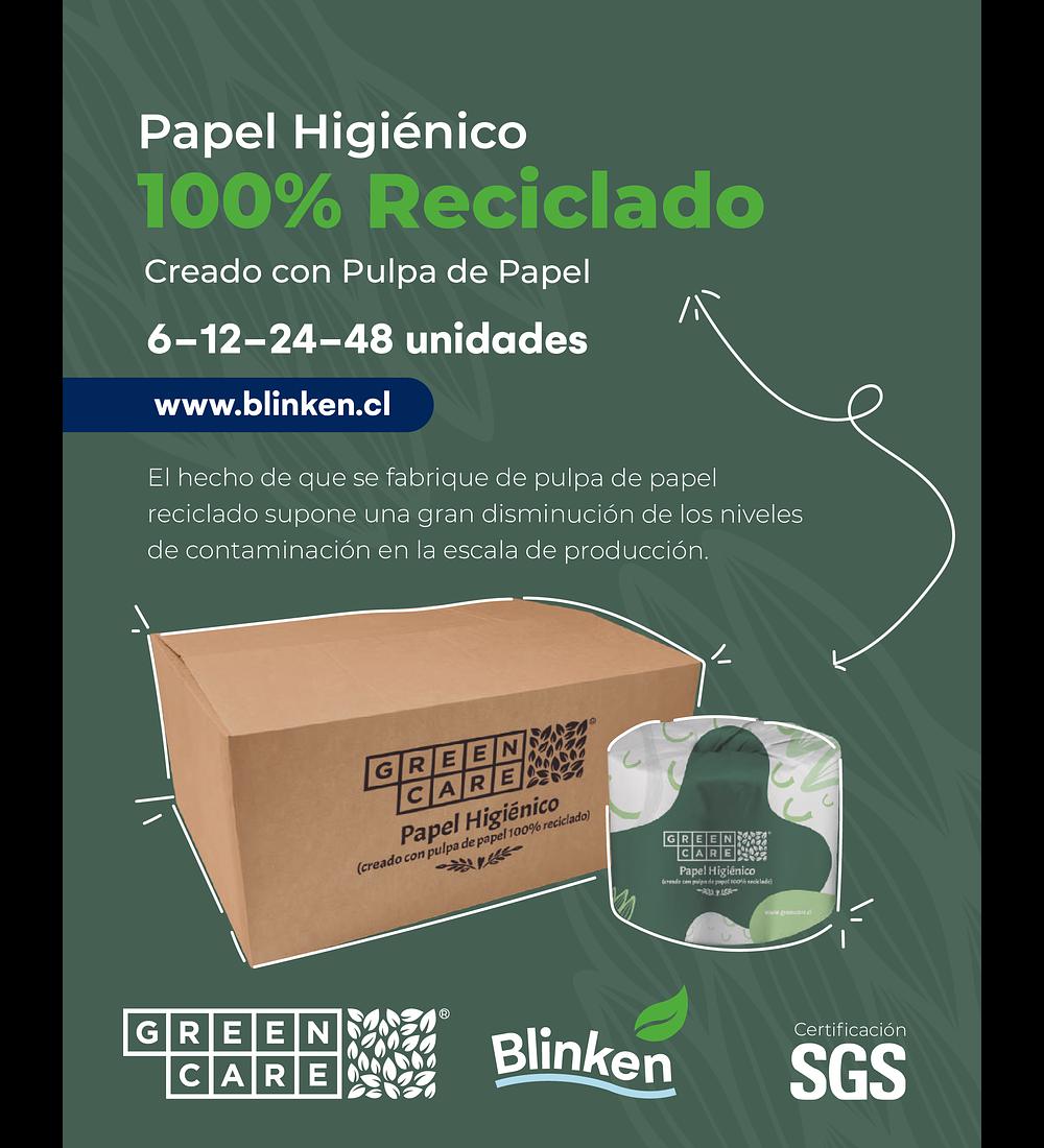 Papel Higiénico GreenCare 100% Reciclado