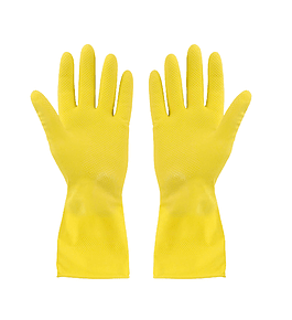 Guante Latex Amarillo