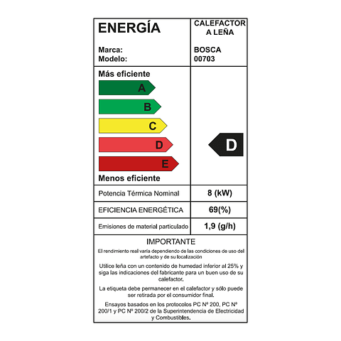 Calefactor a leña Multibosca 350