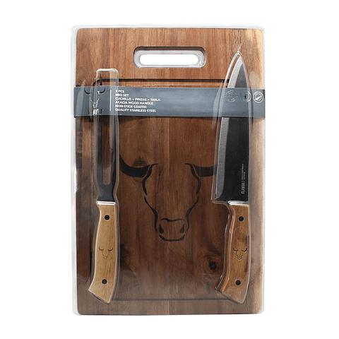 Set Tabla + Cuchillo + Tenedor PRM  Wayu