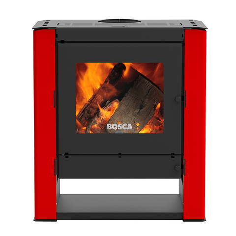 Calefactor a leña Gold 500 Rojo