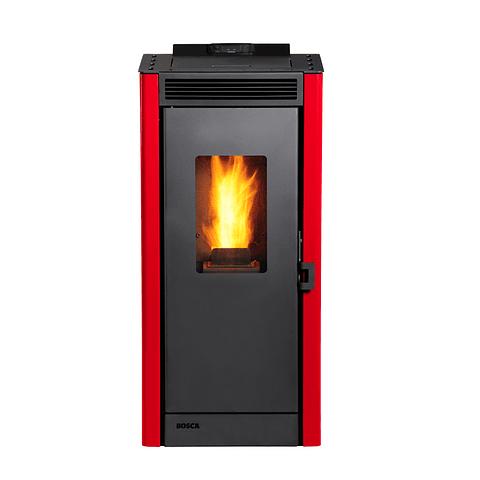 Calefactor a pellet Eco Smart Rojo
