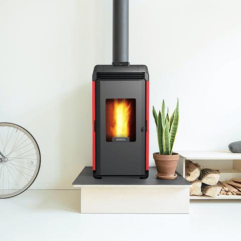 Calefactor a pellet Hera+ Rojo
