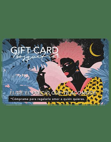 GIFT CARD RECARGABLE PARA UN BOSQUETRO