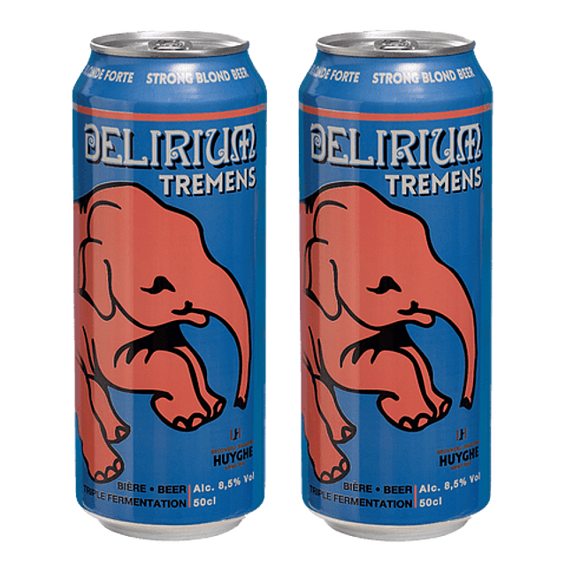 ¡OFERTA! 2x Cerveza Delirium Tremens Lata 500cc