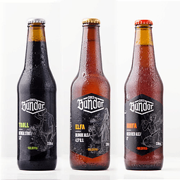 Cerveza Bundor Variedades 3 Botella 330cc