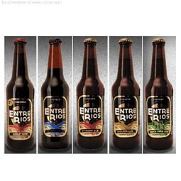 Cerveza Entre Rios Variedades 5 Botellas 330cc