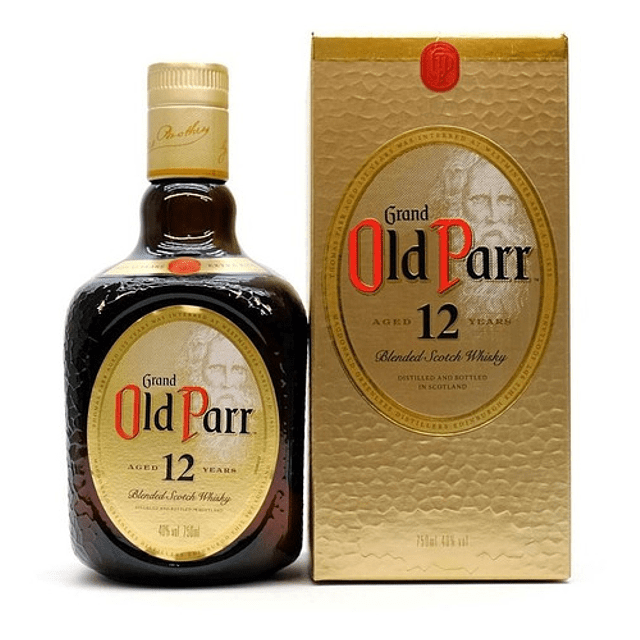 WHISKY GRAND OLD PARR BLENDED SCOTCH 12 AÑOS 750 ML.