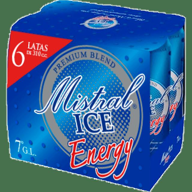 MISTRAL ICE ENERGY X6 latas de 310 cc