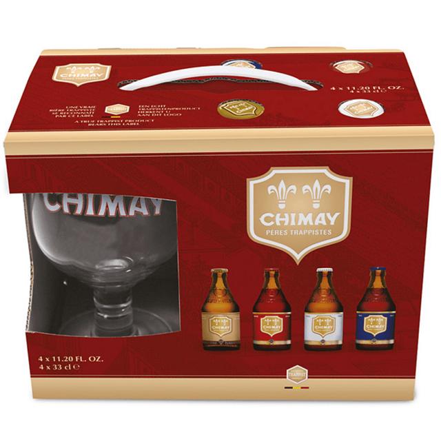 Pack chimay 4cerverzas + Copa