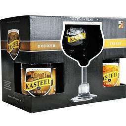 Pack Kasteel 4 Botellas + Copa