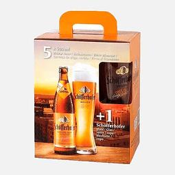 Pack estuche cervezas 5x500ml + vaso Schofferhofer 5x500ml + vaso