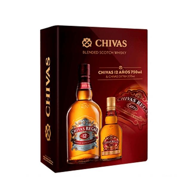CHIVAS REGAL 12 AÑOS + CHIVAS EXTRA
