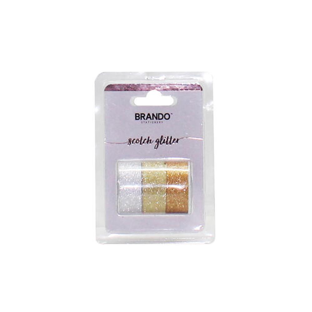 Set 3 Cintas Adhesivas Glitter Brando