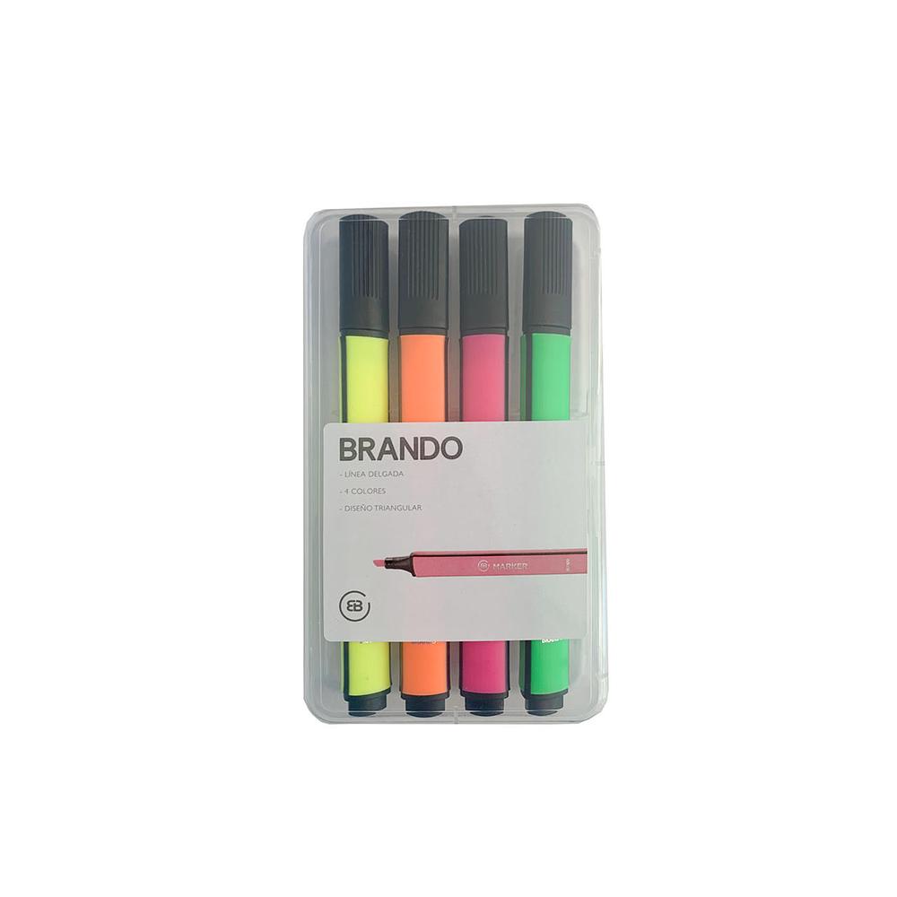 Set 4 Marcadores Brando