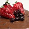 Torta brownie manjar chocolate y frambuesa