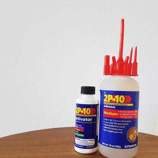 kit Pegamento 2P10 Medium de viscosidad mediana de 10oz y activador